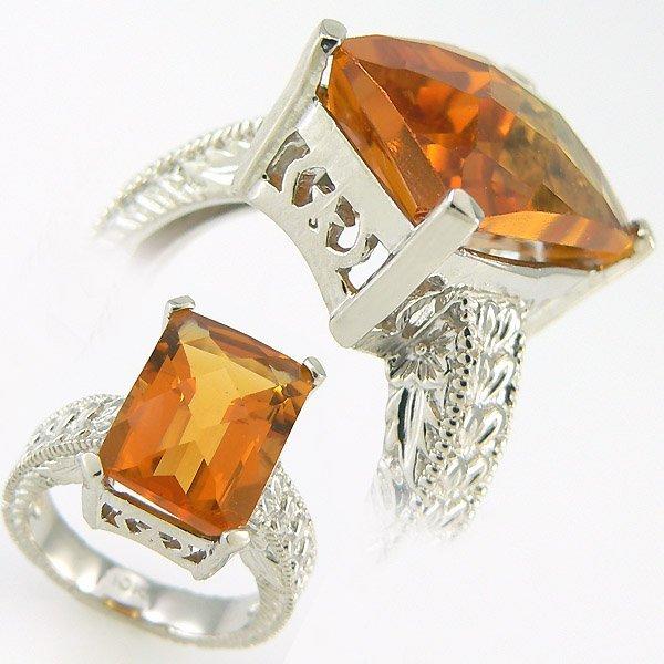 402111040: DIAMOND & CITRINE LADIES RING 10.03 CTW 10KT