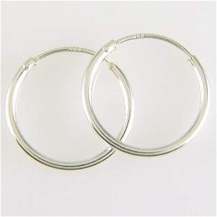 WINDSOR STERLING CLASSIC 10MM ENDLESS HOOPS