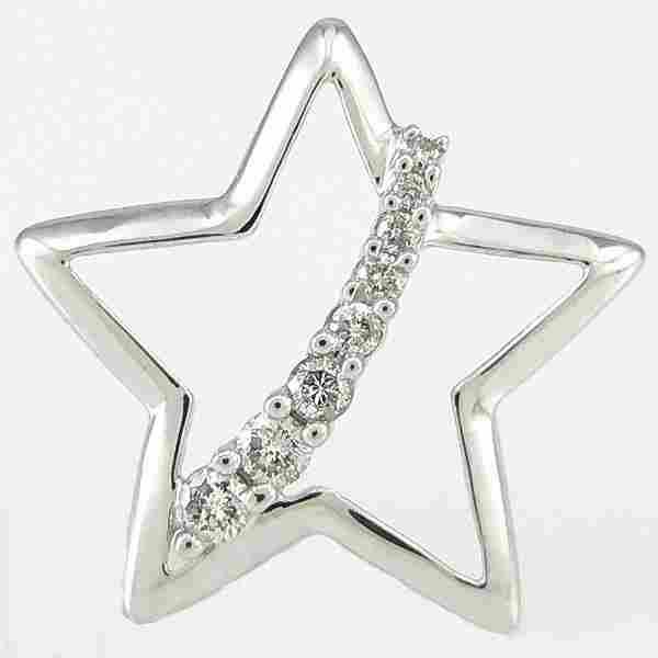 10KT DIAMOND STAR PENDANT 0.20CTS