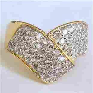 14KT DIAMOND RING 1.00CT SIZE 7