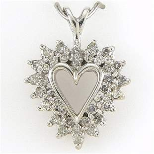 14KT DIAMOND HEART PENDANT 0.50TCW
