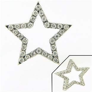 14KT DIAMOND STAR PENDANT 0.33CTS