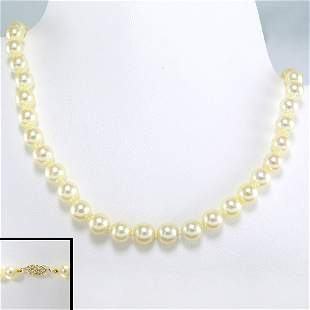 """10KY 6-6.5MM AKOYA PEARL NECKLACE 18"""""""