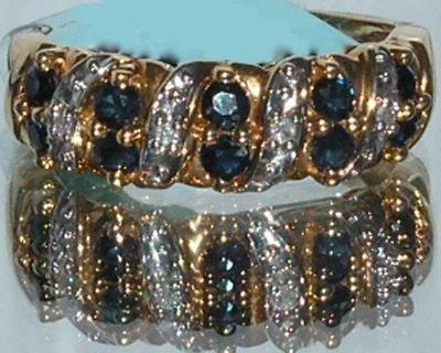 4003: Elegant 18KT Sapphire Diamond Ring