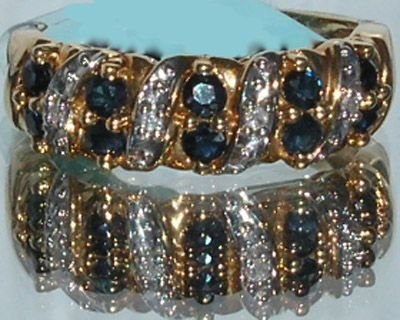 5003: Elegant 18KT Sapphire Diamond Ring