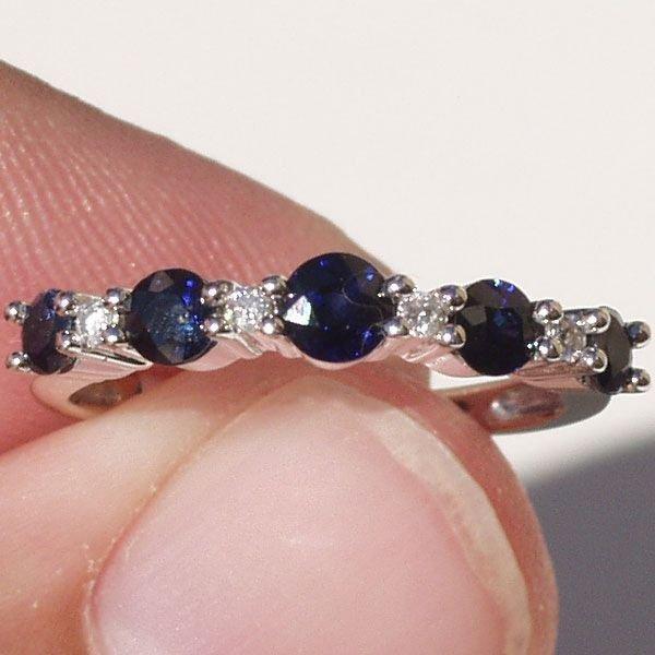 5015: Sapphire & Diamond Ring 14KT.