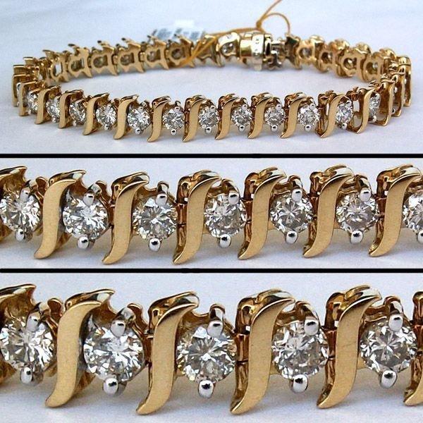 3827: 5.44 CARAT DIAMOND TENNIS BRACELET - 6.5 INCHES