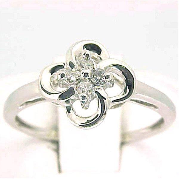 4010: 14KT Diamond Ring 0.08 CTS