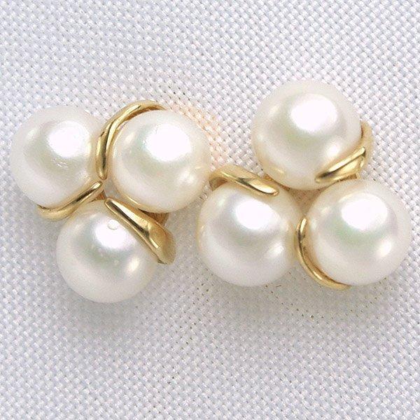 4019: 14KT Fancy Pearl Earrings