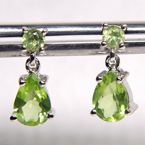 5014: 14KT Peridot Drop Earrings
