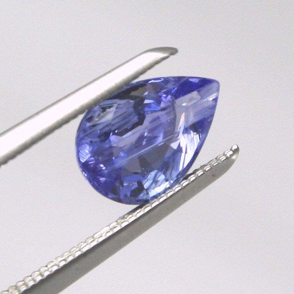1035: Tanzanite Pear Shape 0.83Ct. 7.23x5.13mm