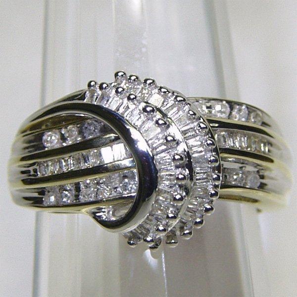 1358: 10KT Fancy Diamond Ring 0.47 TCW