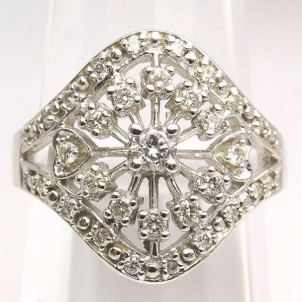 3859: 10KT. Diamond Ring 0.50 Carat 18mm Wide