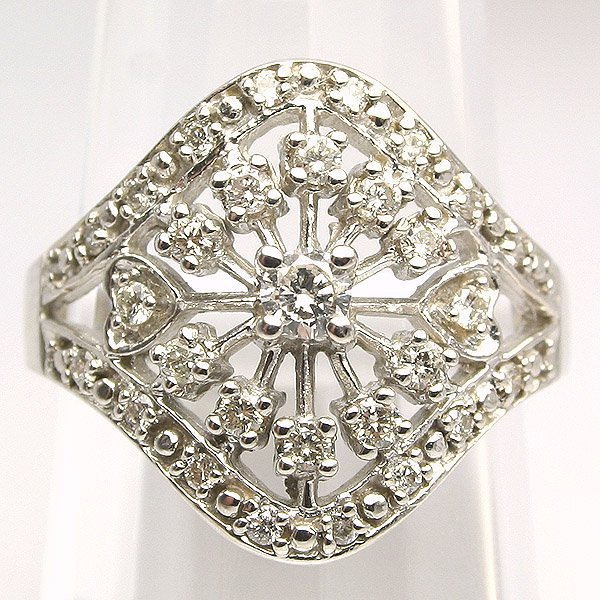 3859: 10KT. Diamond Ring 0.50 Carat 18mm Wide