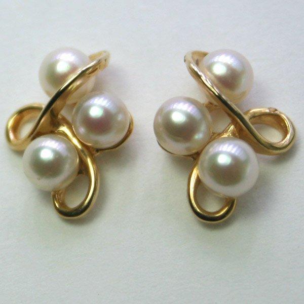 4022: 14KT Fancy Pearl Earrings