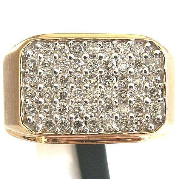 2287: 10KT. Men's Diamond Ring - 1 CT.