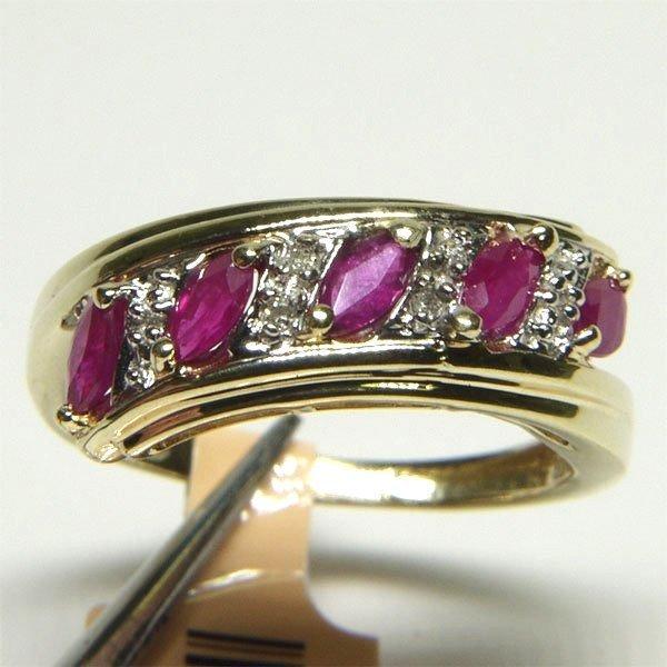 3001: 10KT Ruby Diamond Ring 1.14 TCW