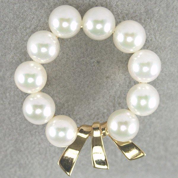 3427: 14KT Pearl Wreath Pin
