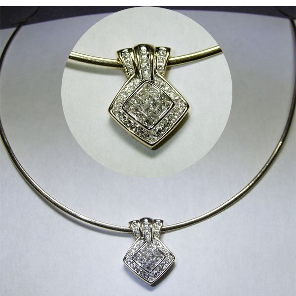 4464: 14KT Diamond Necklace 0.75 TCW