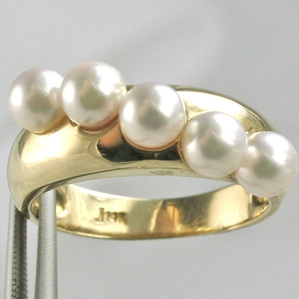 3451: 14KT Cultured Pearl Ring