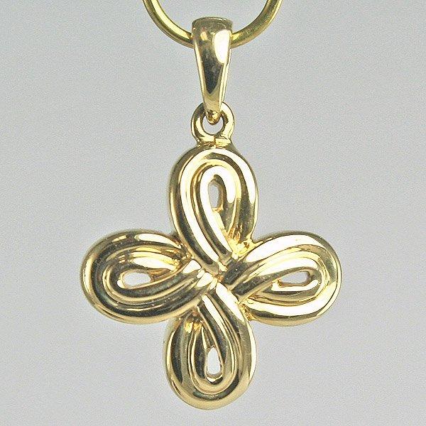 1008: 14KT Gold Flower Pendant, 13MM Width