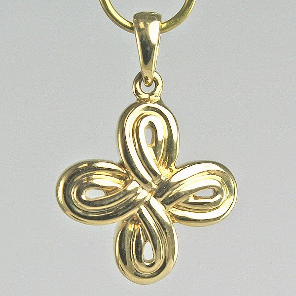 5008: 14KT Gold Flower Pendant, 13MM Width