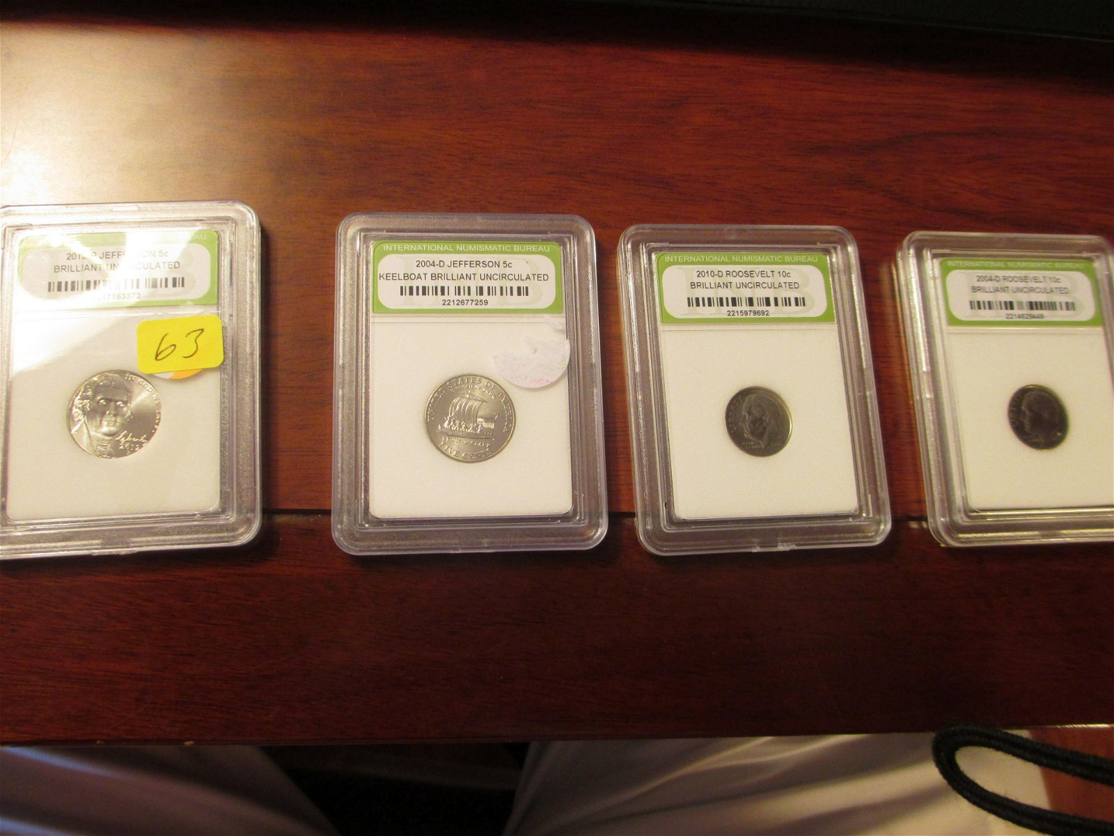 inb graded two roosevelt dimes and two jefferson