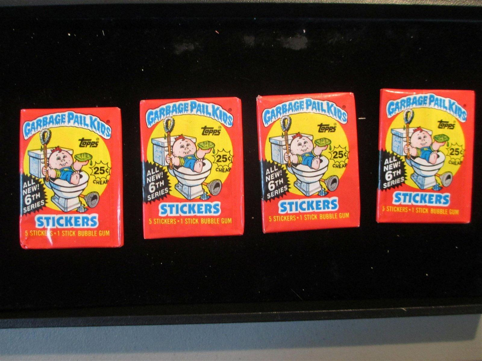 lot of 4 vintage garbage pail kids cards unopened packs