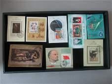 lot of 8 soviet union souvinir sheets