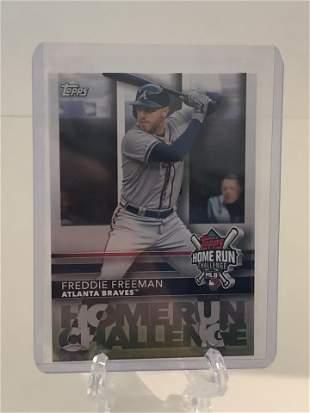 Freddie Freemam Topps Baseball Card