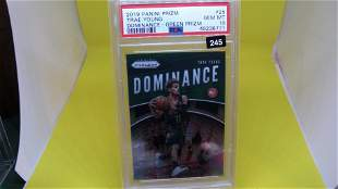 psa graded 2019 trae young dominance green prizm mint