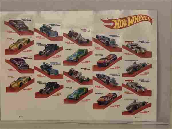 hot wheel postal stamps