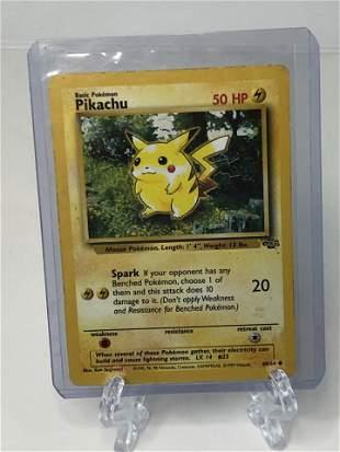 Vintage Jungle Pikachu Pokemon Card- Heavily Played