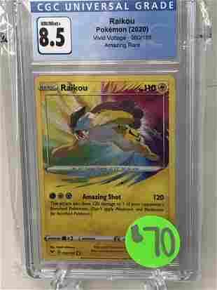 Raikou Amazing Rare Pokemon Card CGC 8.5
