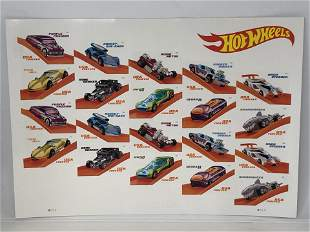 Hot Wheels Commemorative Stamps