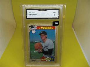 gma graded 1987 roger clemens all-star mint 7