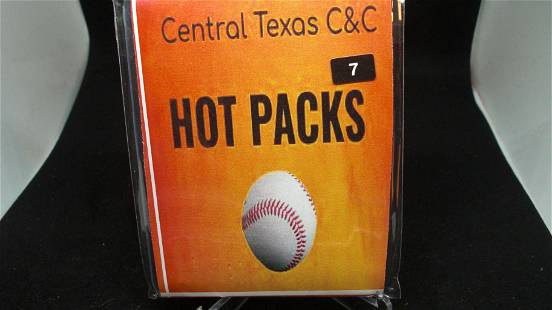 baseball hotpack with auto or jersey