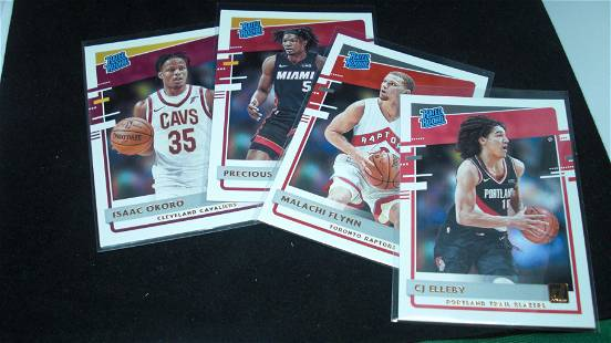 LOT OF (4) 2020-21 DONRUSS BASKETBALL RATED ROOKIES