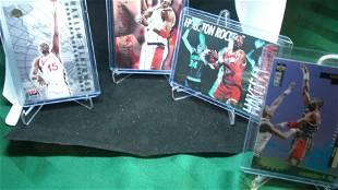 LOT OF 4 1990'S HAKEEM OLAJUWON INSERT CARDS