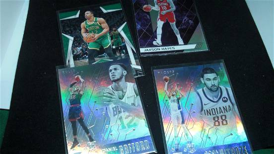 LOT OF 4 NBA BASKETBALL ROOKIE CARDS