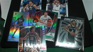 LOT OF 6 NBA BASKETBALL ROOKIE CARDS