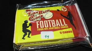 2008 TOPPS TURN BACK THE CLOCK NFL FOOTBALL CARD PACKS