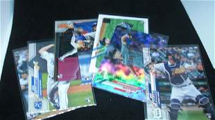 LOT OF 7 TOPPS BASEBALL FLAGSHIP ROOKIE CARDS