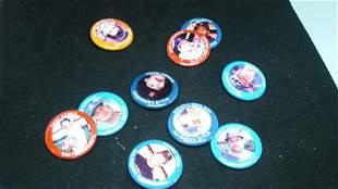 lot of 10 vintage baseball pinback buttons