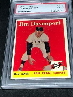 1958 Topps Jim Davenport PSA 5