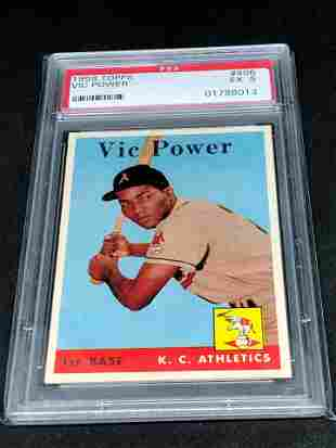 1958 Topps Vic Power PSA 5