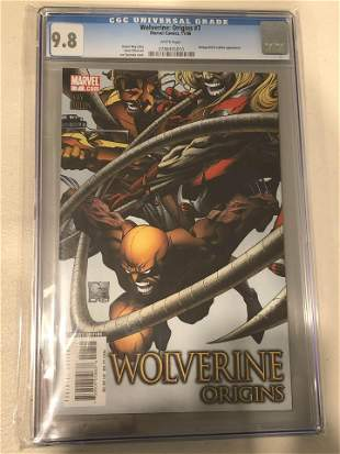 Wolverine Origins CGC 9.8 Comic Book- Slightly Damaged