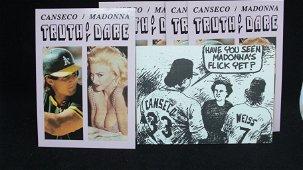 lot of 5 joes canseco & mdonna truth or dare cards