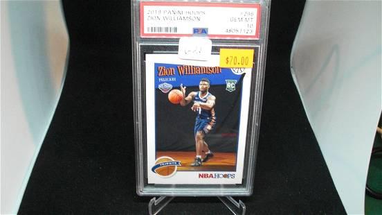 psa graded gem 10 zion williamson rookie card