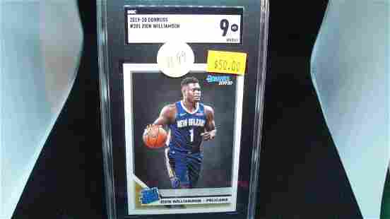 sgc 9 mint zion willaimson rated rookie